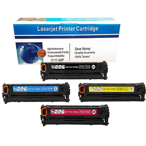 Remanufactured CF210A CF211A CF212A CF213A 4 Color Set for LaserJet 200 M276NW